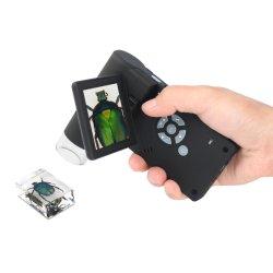 5MP HD 줌 500X 8 LED 조명 3인치 LCD 디지털 모바일 비디오 현미경