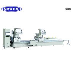 De Scherpe Machine van de Deuren van het Aluminium van de precisie of van het Venster UPVC met Dubbel Hoofd