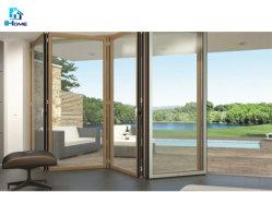住宅アルミニウムフレームの緩和されたガラスのBifold折れ戸の使用された外部ドア及び商業スライドガラスの使用されたアルミニウムドア