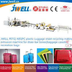 Jwell из PETG массой АБС|PC пластиковый лист багажного отделения переработки сельскохозяйственных решений экструзии машины для поля Draw-Bar|багаж случаях|отдыха сумки