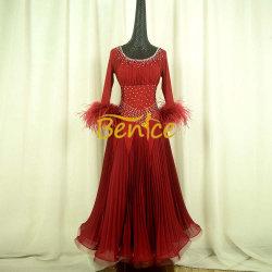 Long de la concurrence Swing Rhinestone costume de danse Danse latine Salle de bal robe pour les femmes