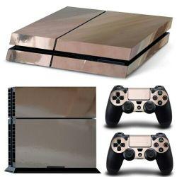 Venda por grosso de concepção para consola PS4 Pele Autocolante cromado