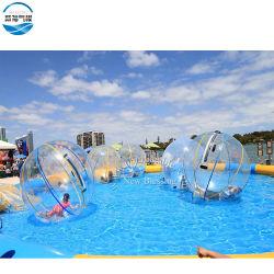 Inflables personalizada 2m de agua transparente poca bola moviéndose globo