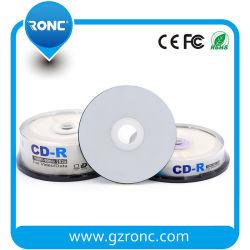 De bonne qualité disque noir vierge CDR imprimables jet d'encre 700 Mo