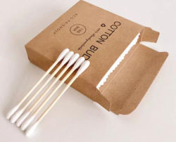 O algodão Gomos de bambu Double-Headed cotonetes de limpeza