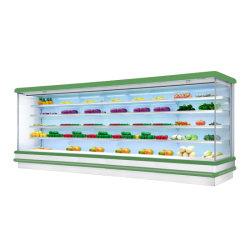 Коммерческие фруктов овощей дисплей охлажденных кабинета для сетей супермаркетов