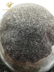 Q6 в Сен Реми Virgin человеческого волоса Wig в черный цвет для мужчины