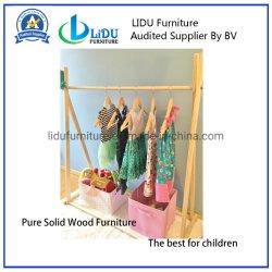 Enduire le manteau en bois de Rack rack de séchage pour la vente Kids Portemanteau enfants Portemanteau petit Portemanteau