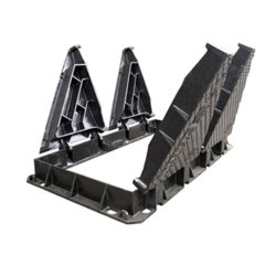 En124 D400 4の三角の延性がある鉄のマンホールカバーおよびフレーム
