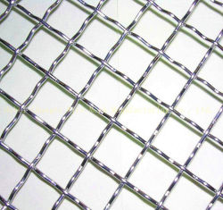 Fils en acier inoxydable maille dans l'extrémité fermée sur le fil serti maille armure en acier inoxydable de Wire Mesh