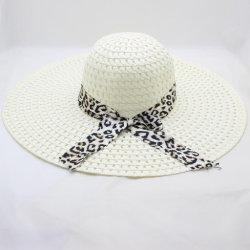 リボンが付いている工場供給の紙ひものわらのパナマ帽子