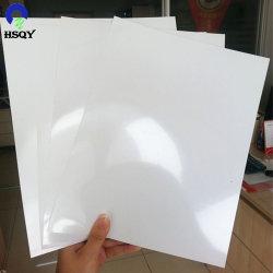 인쇄할 수 있는 1mm 2mm 두꺼운 백색 광택 있는 단단한 플라스틱 PVC 장 PVC 널