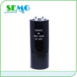 Potência de parafuso Capacitor capacitor eletrolítico de alumínio 400V 6400UF Promoção Banheira