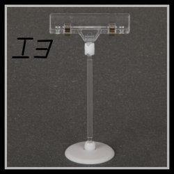 Sinal de vídeo clipe de suporte de plástico transparente/Base pequena suporte de clipe (I3)