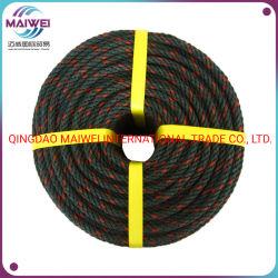 3strand/4strand bereitete Polyäthylen-Seil, aufbereitetes PET GG-Seil, Plastikfischen-Seil auf