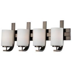La luz de cuatro de baño de cristal Opal Tocador de pared Dispositivo de luz