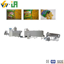 Gepufte Maïs Snack Extruder Extruded Rice Puff Food Corn Ring Extrusion Making Machine Production Line