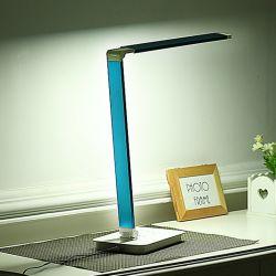 Настольная лампа LED--Нажмите Переключатель; 5 уровня температуры цвета и 7 уровня яркости; аккумулятор и регулируемый
