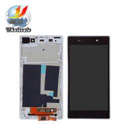 Plein écran affichage LCD+Touch+Châssis pour Sony Xperia Z1 L39H C6902 C6903 de couleur blanche