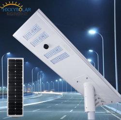 Tout en un seul capteur de mouvement de la rue du carter d'éclairage LED solaire 120W pour l'autoroute