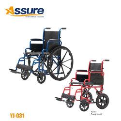 Tipo de acero de la FDA americana cómoda silla de ruedas plegable portátil Proveedores