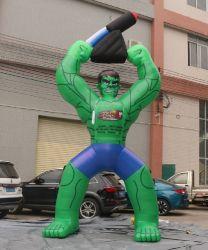 Muscle gonflable géant vert/Modèle de l'homme pour la publicité