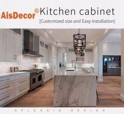 現代的なアンティークの無垢材製キッチン家具キャビネットデザイン