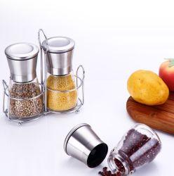 Manuel d'herbe de verre/SEL/moulin à épices&d'une meuleuse pour la cuisine