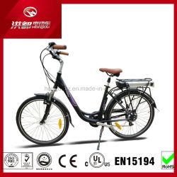 250W 26inch都市女性の電気ペダルの自転車のLED表示電気バイクEn15194のリチウム電池のEバイクのディスクブレーキ