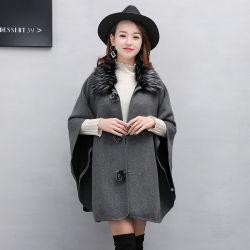 Long manteau de fourrure pour dames avec laine artificielle