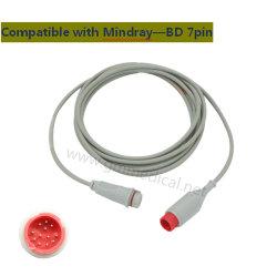 Adapter-Kabel des kompatibler Mindray BD Signalumformer-invasives Blut-Pressure/IBP