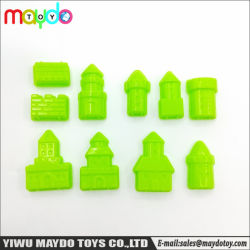 10PCS de geassorteerde Klei van het Zand vormt Modellen van het Kasteel van de Prinses van het Stuk speelgoed de Plastic