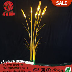 Indicatori luminosi esterni di natale del LED 220V IP68 del giardino decorativo giallo del frumento