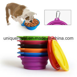 Colorida de silicona plegable Pet Bowl