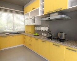 Pellicola in PET con pannello in PVC espanso per armadio da cucina