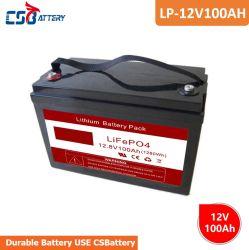Csbattery 12V100ah 3 Jahre Garantie Lithium-Ionen-Phosphat-Akku für Buggys/Windkraftanlagen/mit CE RoHS-Zertifizierung/Amy