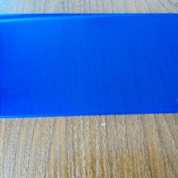 6.38mm bleu diamant film PVB Feuille de verre stratifié décoratif