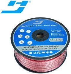 Premium Cable de altavoz de color rojo transparente 2X12AWG OFC Cables para cine en casa de alquiler de sonido