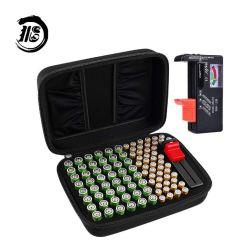Organizador de la batería de portátil personalizada Hardshell titular de la Caja de almacenamiento de 48 X 48 X AA, AAA el total de 96 Comprobador de Baterías Baterías con el caso de EVA