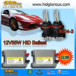 Тонкий 12V55W HID лампы Bixenon балласта комплект (9004/9007-3)
