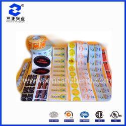 전사술 명확한 둥근 지붕 서류상 레이블 접착성 Barcode 에폭시 인쇄 기계 Qr 스티커