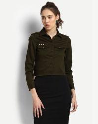 2017 haute qualité avec un faible MOQ pour vos femmes vestes de cargaison d'olive