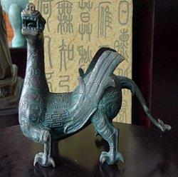청동색 고대 기술 신화 동물