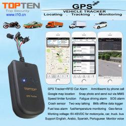 نظام تحديد المواقع العالمي (RFID) الدخول بدون مفتاح نظام تحديد المواقع العالمي (GPS) دعم إنذار السيارة تنبيه تسرب الوقود، تنبيه السرعة الزائدة Gt08-Ez