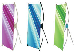 Подставка для дисплея мини X баннер (DW-TX-1/2/3 20*42см)