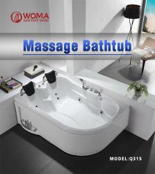 حوض استحمام ساخن فاخر Foshan حوض استحمام تدليك أكريليك لشخصين (Q315R) الجانب الأيمن