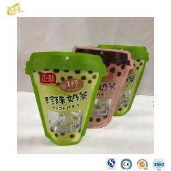 소오리 패키지 플라스틱 드로스트링 백 중국 소모품 재밀봉 비닐 파우치 보습 방지 스탠드업 파우치 백은 포장재에 사용합니다