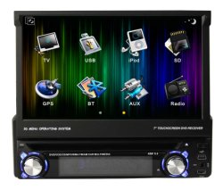 """1 DIN 7 """" motoriseerde """" GPS van de Auto DVD van het Scherm van Aanraking 7 Universele Navigatie (OTO-830)"""