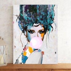 그림 캔버스 그림 꽃 섹시한 여인 포스터 벽화 거실의 사진 침실 현대적인 홈 장식 프레임 없음 OL-200624