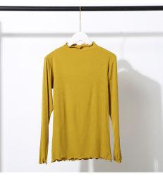 カスタム女性のセーターのタートル・ネックのセーターの女性は純粋な綿のプルオーバーのセーターを編んだ